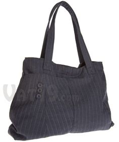 recycled suit bag. Cuter than Jean ones