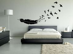 FREE SHIPPING Birds of a Feather Wall Decal Custom Size and Color on Etsy, $14.50