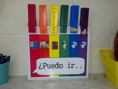 Passes to leave Spanish class Target language input Clip onto clothes so no germs! Spanish Teaching Resources, Spanish Activities, Spanish Lessons, Spanish 1, Teaching Ideas, Teaching Materials, Classroom Activities, Classroom Decor, Classroom Organization