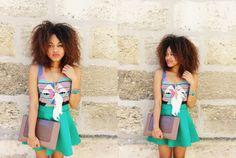 Jupe patineuse - Look d'été Fashion blog Pompompidou // Flared skirt - Summer outfit Blog mode
