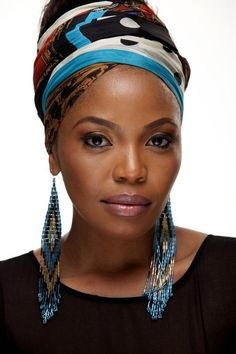 """Moitheri Pheto AKA """"Terry"""" is a South African actress best known for her leading role as Miriam in the 2005 Oscar-winning feature film """"Tsotsi. African Beauty, African Women, African Fashion, Ghanaian Fashion, Terry Pheto, African Actresses, Turbans, Headscarves, African Head Wraps"""