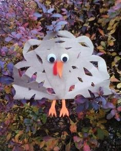 Simple Kids Craft:TurkeySnowflake   #thanksgiving #november #crafts