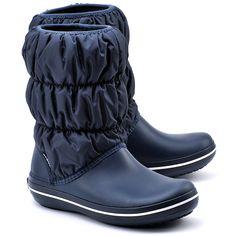 CROCS Winter Puff Boot - Granatowe Nylonowe Śniegowce Damskie - Buty Kobiety Śniegowce   Mivo
