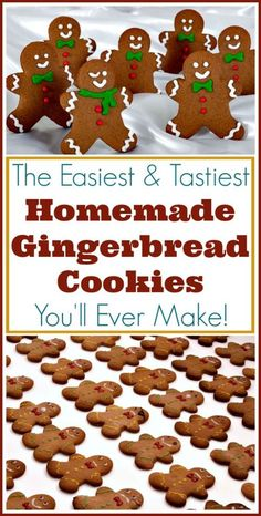 The easiest recipe for perfect gingerbread men and other cutout cookies!