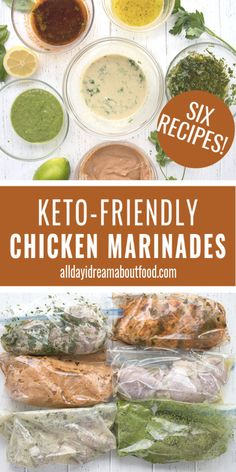 Healthy meal planning 206884176620209614 - 6 delicious and easy keto chicken marinade recipes. All of them are freezer friendly and come together in 5 minutes flat. Perfect for keto meal planning! Source by dreamaboutfood Keto Foods, Ketogenic Recipes, Ketogenic Diet, Diet Recipes, Healthy Recipes, Ketogenic Breakfast, Dessert Recipes, Protein Recipes, Shake Recipes