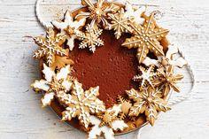 Chocolate caramel gingerbread pie