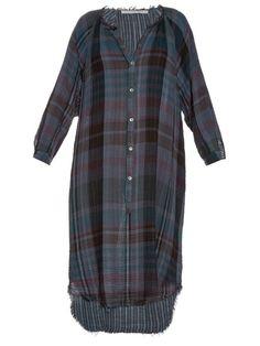 Raquel Allegra Checked cotton-gauze shirtdress