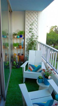 54 Ideas apartment patio decor space saving for 2019 - Modern Small Balcony Decor, Small Balcony Design, Small Balcony Garden, Terrace Garden, Small Balconies, Balcony Gardening, Herb Garden, Garden Paths, Indoor Garden