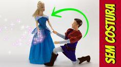Como fazer um Vestido da Cinderela para Barbie e Outras Bonecas!