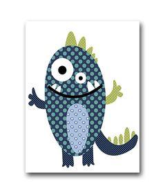Monster Nursery Print Kids Art Digital file by nataeradownload