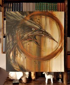 Black crow by un2one, via Behance