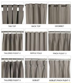 The most common types of drapery — Krystin Krebs Interiors,The most common types of drapery — Krystin Krebs Interiors Curtain monitor or curtain pole? The most common types of fastening for curtains are rods a. Living Room Decor Curtains, Home Curtains, Curtains With Blinds, Curtains For Windows, Curtain Ideas For Living Room, Ceiling Curtains, Modern Curtains, Blackout Curtains, Curtain Styles