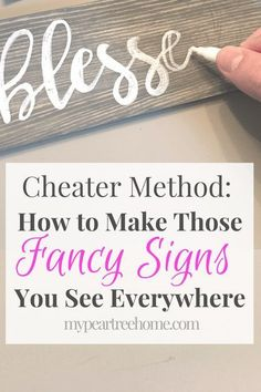 Love the signs you see all over Hobby Lobby? Now you can make your own DIY sign using this easy fail-proof method! Love the signs you see all over Hobby Lobby? Now you can make your own DIY sign using this easy fail-proof method! Diy Projects To Try, Crafts To Make, Home Crafts, Wood Projects, Fun Crafts, Pallet Projects Signs, Project Ideas, Best Crafts, Home Craft Ideas