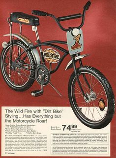 1fb710285d7 wild fire bicycle 1973 Motocross Bikes