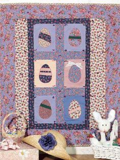 Easter Egg Quilt and Bunny Vest designed by Judi Kauffman on free-quilting.com-Special Occasion/Classic Quilting Patterns-Free sign up for newsletters/upadates http://www.free-quilting.com/detail.html?code=FQ00281&cat_id=440