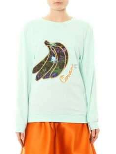 Just in: Carven bananas sweatshirt at MATCHESFASHION.COM #MATCHESFASHION
