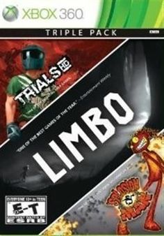 XBOX 360 GAME 3 PACK LIMBO, TRIALS HD, SPLOSION MAN *BRAND NEW & SEALED*