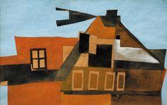 Vajda Lajos: Szentendrei házak Home Art, Surrealism, Landscape, Abstract, Painting, Collection, House, Artist, Summary
