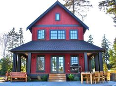 Puget Sound residence, Seattle. Sears Architects. the house is cute, but I am no fan of the red....