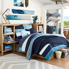 Dover Storage Bed + Dresser Set // Exclusively designed with 11-time world surfing champ Kelly Slater, this FSC-certified wood bed and dresser blend environmental responsibility with laid-back design.