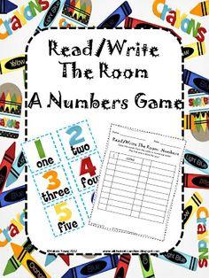 Classroom Freebies Too: Read/Write The Room - A Numbers Game!