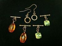 Interchangable toggle earrings
