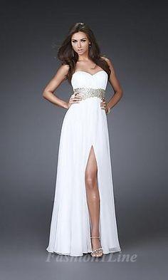 Sheath Chiffon Sweetheart Long Dress fashion00681