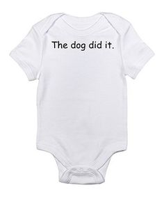 Which came first: the cozy bodysuit or the hilarious graphic? Either way, this baby basic has got some serious comedic value and unrivaled convenience thanks to the handy lap neck and quick snaps on bottom.