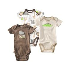 JUST ONE YOU Made by Carters ® Infant Boys 3 Pack Bodysuit Set - Green target
