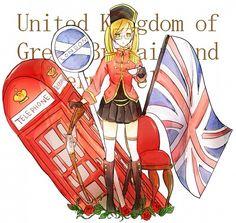 Hetalia (ヘタリア) - Fem!England/The United Kingdom (イギリス)