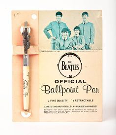 the beatles ball point pen Beatles Funny, Beatles Love, Beatles Art, Beatles Poster, The Magical Mystery Tour, Rock And Roll History, The Ed Sullivan Show, Rock And Roll Bands, Cute School Supplies