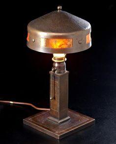 Roycroft 'Helmet' Lamp