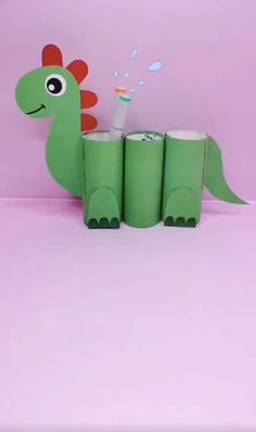 Paper Roll Crafts, Paper Crafts Origami, Paper Crafts For Kids, Cardboard Crafts, Craft Activities For Kids, Preschool Crafts, Craft Ideas, Tissue Roll Crafts, Back To School Crafts For Kids