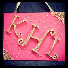 Rhinestone monogram I only pinned this because this is @Kelsey Boyer's exact initials before she got married! Weird!