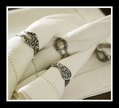 Silverware and cutlery for napkin rings