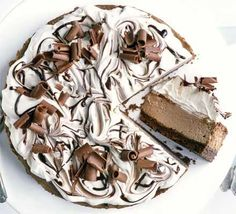 Double chocolate cheesecake recipe - Recipes - BBC Good Food