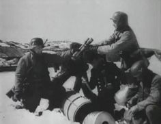 Fallschirmjäger reinforcements land at Bjørnfjell outside Narvik in Norway during the battle in april Notice the two guys from the Kriegsmarine in the background. German sailors had to fight as regular infantry during the battle of Narvik. Narvik, Paratrooper, Luftwaffe, Old Photography, Gi Joe, World War Ii, Troops, Wwii, Norway