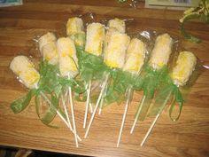 Corn on the cob marshmallow treats