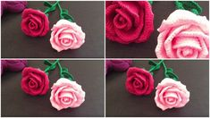 Beautiful Roses Today Design Birdy presents you another beautiful rose crochet pattern.This roses are looking amazing and very realistic.This roses can be a beautiful decoration for your home or it… Free Crochet, Knit Crochet, Different Crochet Stitches, Single Rose, Beautiful Roses, Crochet Flowers, Crochet Projects, Crochet Necklace, Crochet Patterns