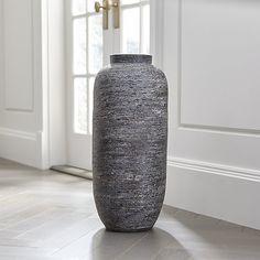 Timber Grey Floor Vase | Crate and Barrel