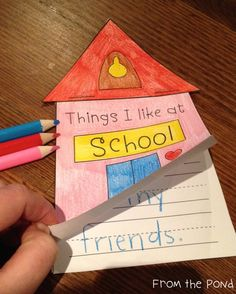 Things I Like At School Writing Activity $