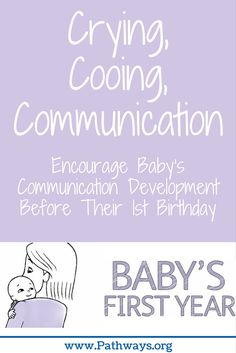 Long before they say their first words, babies are developing communication skills. This video offers practical advice for parents and caregivers on how to help their baby reach important speech and language milestones during the first year, from crying to cooing, babbling, and talking.