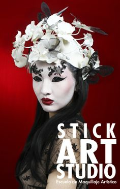 Maquillaje realizado por Tere Casol, maestra de Stick Art Studio, escuela de maquillaje artístico en Barcelona