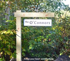 How to making an outdoor post for hanging signs.