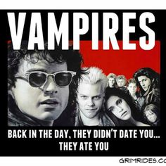 Ahh, the ghoul old days of vampires and their movies~