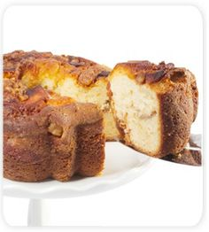 Viennese Coffee Cake - Granny Apple  Yellow cake is amply coated with cinnamon, nuts, sugar with delicious apple chunks.
