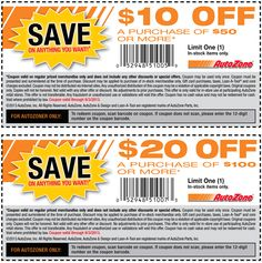 Pinned August 21st: $10 off $50 and more at Auto#Zone #coupon via The Coupons App