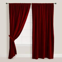 One of my favorite discoveries at WorldMarket.com: Wine Velvet Curtain
