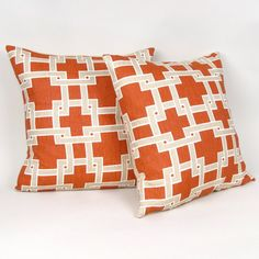 cute orange pillows