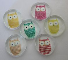 Hey, I found this really awesome Etsy listing at http://www.etsy.com/listing/128731835/set-of-9-owl-magnets-or-pushpins